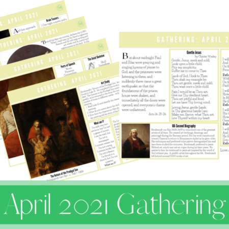 April 2021 Gathering Placemats