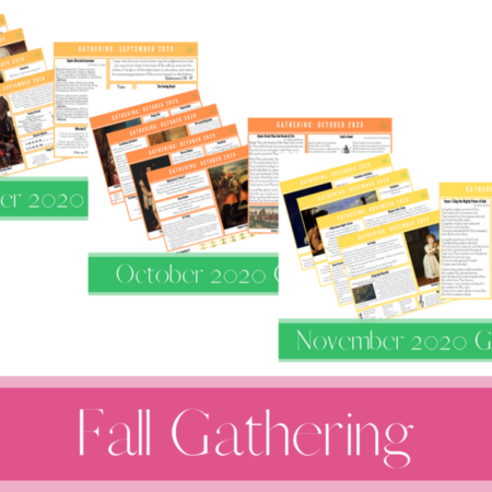 Fall 2020 Gathering Placemats