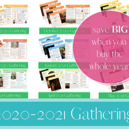 2020-2021 Gathering Placemats