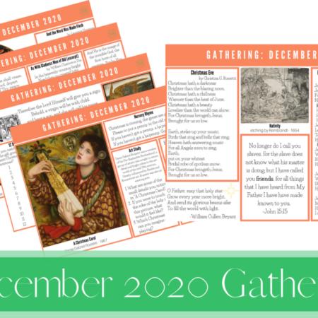 December 2020 Gathering Placemats
