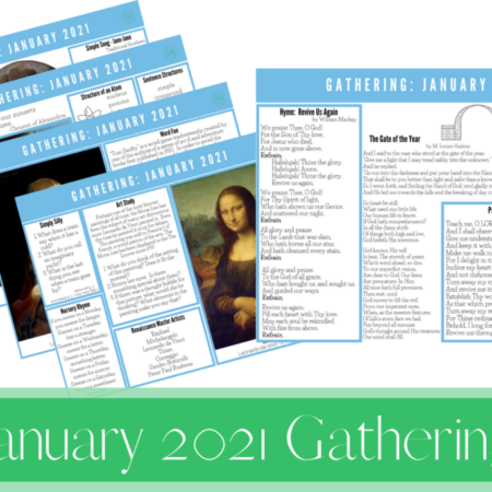 January 2021 Gathering Placemats