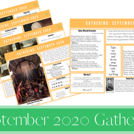 September 2020 Gathering Placemats