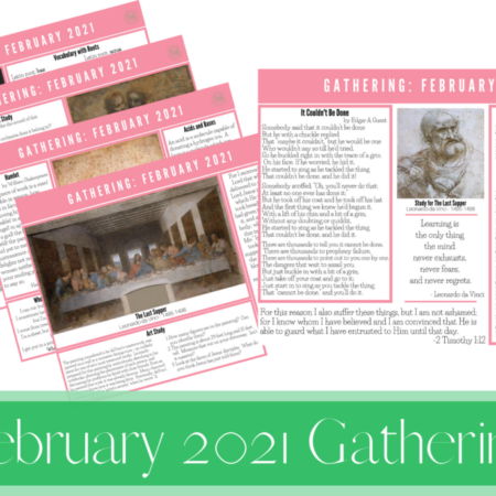 February 2021 Gathering Placemats