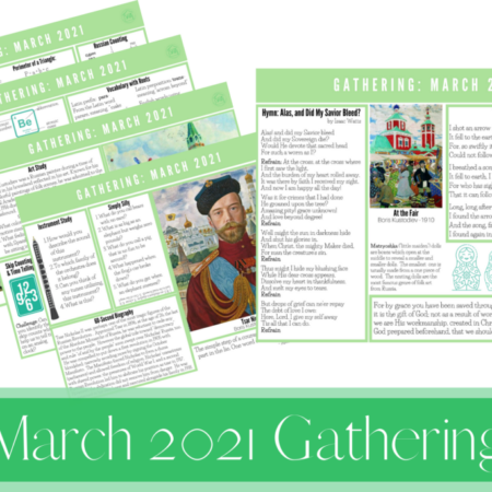 March 2021 Gathering Placemats