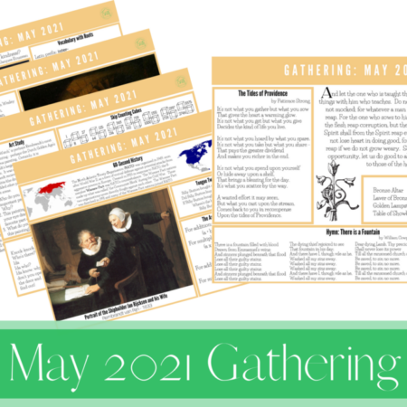 May 2021 Gathering Placemats