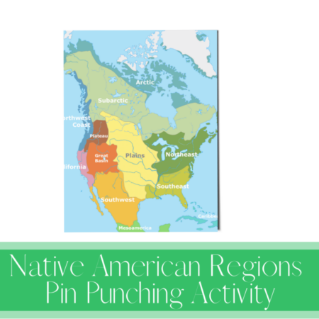 Native American Regions Pin Punching Activity