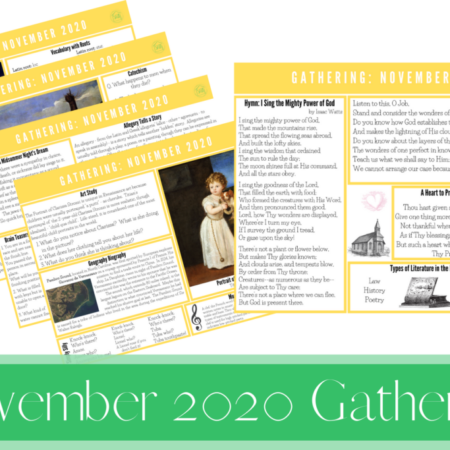 November 2020 Gathering Placemats