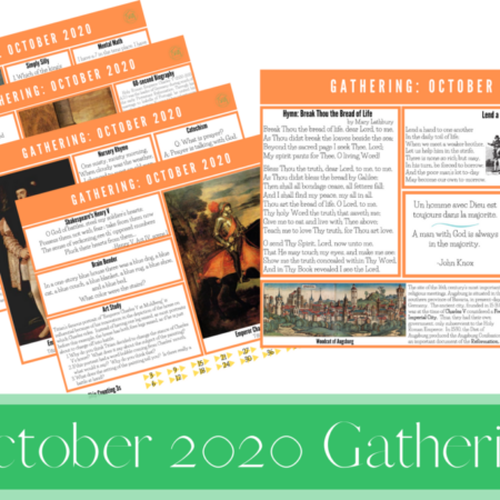 October 2020 Gathering Placemats
