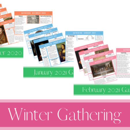 Winter 2020-2021 Gathering Placemats