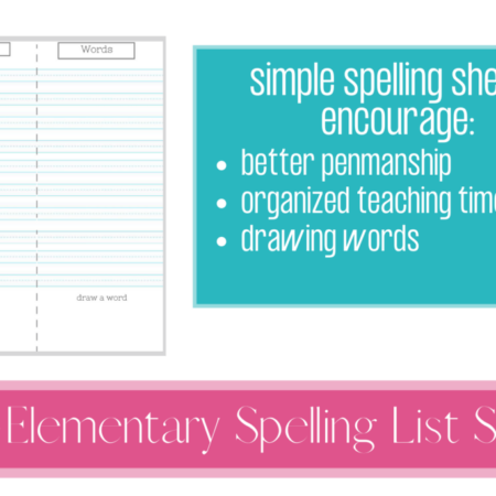 Early Elementary Spelling Sheets