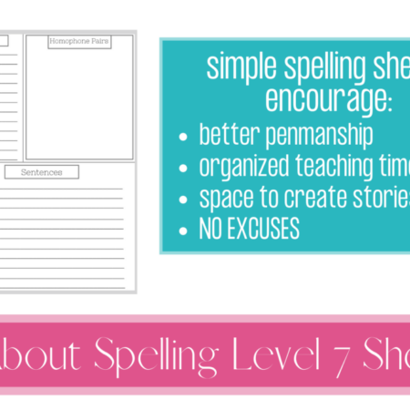 All About Spelling Sheets – Level 7