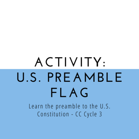 U.S. Constitution Preamble Flag Activity