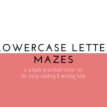 Lowercase Letter Mazes