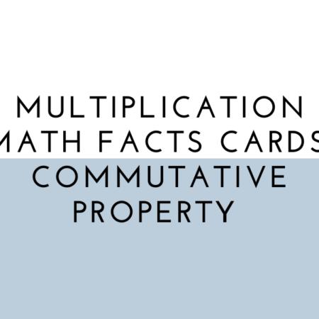 Commutative Property Math Flash Cards (Multiplication)