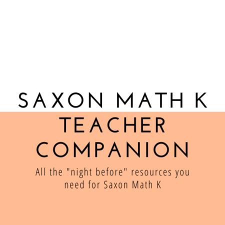 Saxon Math K Teacher Companion