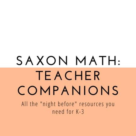 Saxon Math Teacher Companions (K,1,2,3)