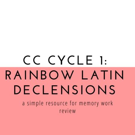 Rainbow Latin Declensions