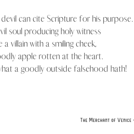 Shakespeare Quotes – Merchant of Venice